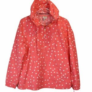 Cool Cotton Polka Dot Half Zip Hooded Pullover